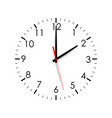 clock face showing two hours isolated vector image vector image