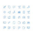 copywriting icon write articles pen symbol vector image vector image