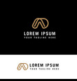 da or ad line logo design inspiration vector image vector image