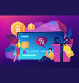 debit card concept vector image