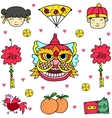 doodle element chinese celebration vector image vector image