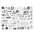 doodle shapes pencil arrows hand drawn textures vector image