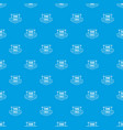 fence pattern seamless blue vector image vector image