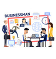 flat business composition vector image vector image