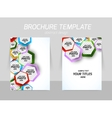 Flyer back and front template design vector image vector image