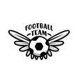 football team banner creative badge with soccer vector image