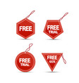 free tags website elements vector image