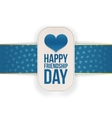 Friendship Day realistic Banner with Ribbon vector image vector image