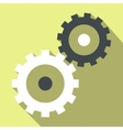 Gear wheels flat icon vector image