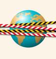 global quarantine caused coronavirus spread vector image