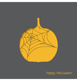 halloween pumpkin with spider web vector image vector image