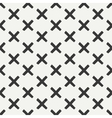 Hand drawn geometric seamless ink pattern with vector image vector image