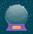 happy new year snowball christmas ball vector image vector image