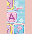 hello baby shower card vector image vector image