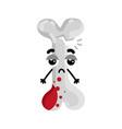 human broken bone cartoon character vector image vector image