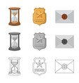 isolated object of law and lawyer symbol set of vector image