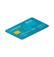 isometric credit card against the white background vector image vector image