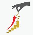 Keep grow up money vector image
