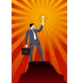 Leading in the darkness business concept vector image vector image