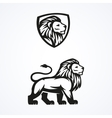 Lion logo sport mascot emblem design vector image