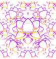 lotus flower sacred geometry symbol with all vector image vector image