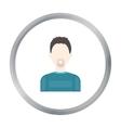 Man with a beard icon cartoon Single avatar vector image