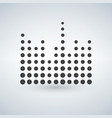 minimal circle sound waves in black isolated icon vector image vector image
