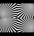 monochrome rays starburst background set vector image