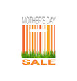 mothers day sale badge seasonal special offer and vector image