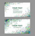 Multicolored triangle design business card set vector image vector image