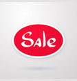 oval red tag special offer sale discount vector image