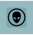 Pale blue alien sign vector image