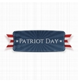 Patriot Day Label on white textile Background vector image vector image