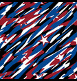 patriotic camouflage abstract seamless pattern vector image