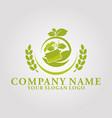 restaurant leaf logo 5 vector image vector image