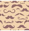 Retro hipster moustache seamless pattern