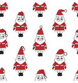 santa clause pattern vector image