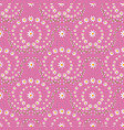 seamless pattern with ornaments made by flowers vector image