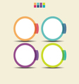 Set of Colorful Circle Infographic Element vector image