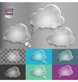 Set of glass speech bubble cloud icons with shadow vector image vector image