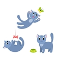 Set of happy cats 1 vector image