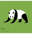 Set of Panda silhouettes vector image
