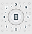 set of simple mobile icons vector image vector image
