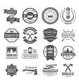 set vintage logotypes elements labels vector image