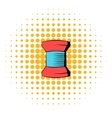 Spool of thread icon comics style vector image