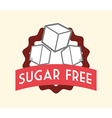 Sugar free design vector image
