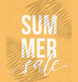 summer sale banner design with realistic shadows vector image