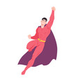 superhero or superman flying man with muscular vector image