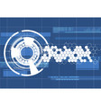 technological blueprint technical haxagon vector image vector image