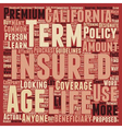 Term Life Insurance For Californians text vector image vector image